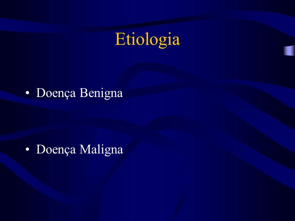 Etiologia Tumores malignos: -Invasão, compressão extrínseca ou contaminação linfática - Colangiocarcinoma primário - Tumores raros: Carcinoma mucoepidermóide Rabdomiosarcoma / hemangioendotelioma Apudoma - Carcinoma da vesícula/ carcinoma do cístico