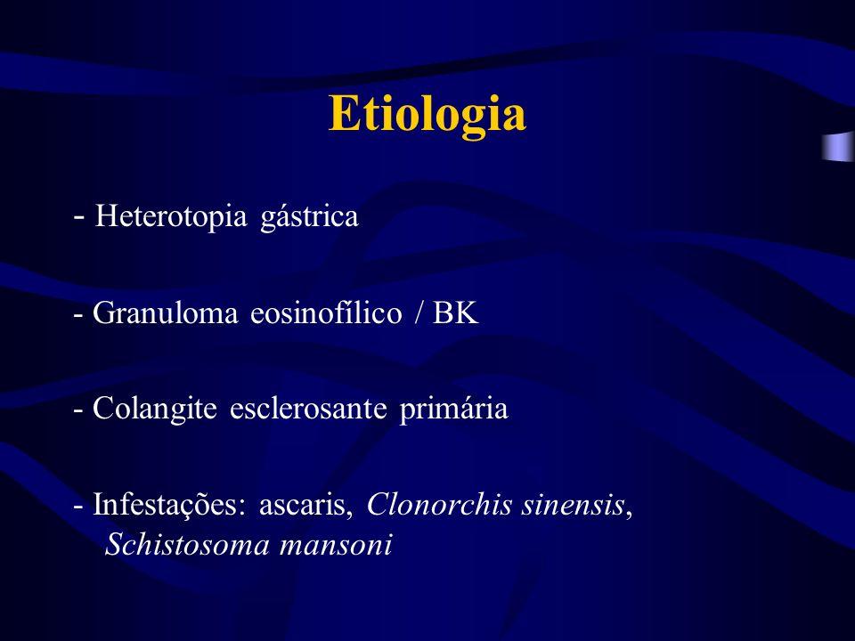 Caso Clínico 1 Há 15 dias começou a apresentar icterícia, colúria, hipocolia fecal e prurido.