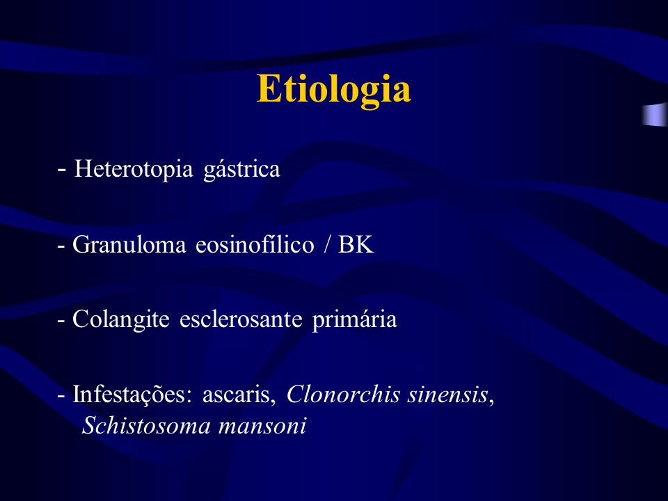 Etiologia - Corpos estranhos - Compressa de gaze -Torulose - SIDA