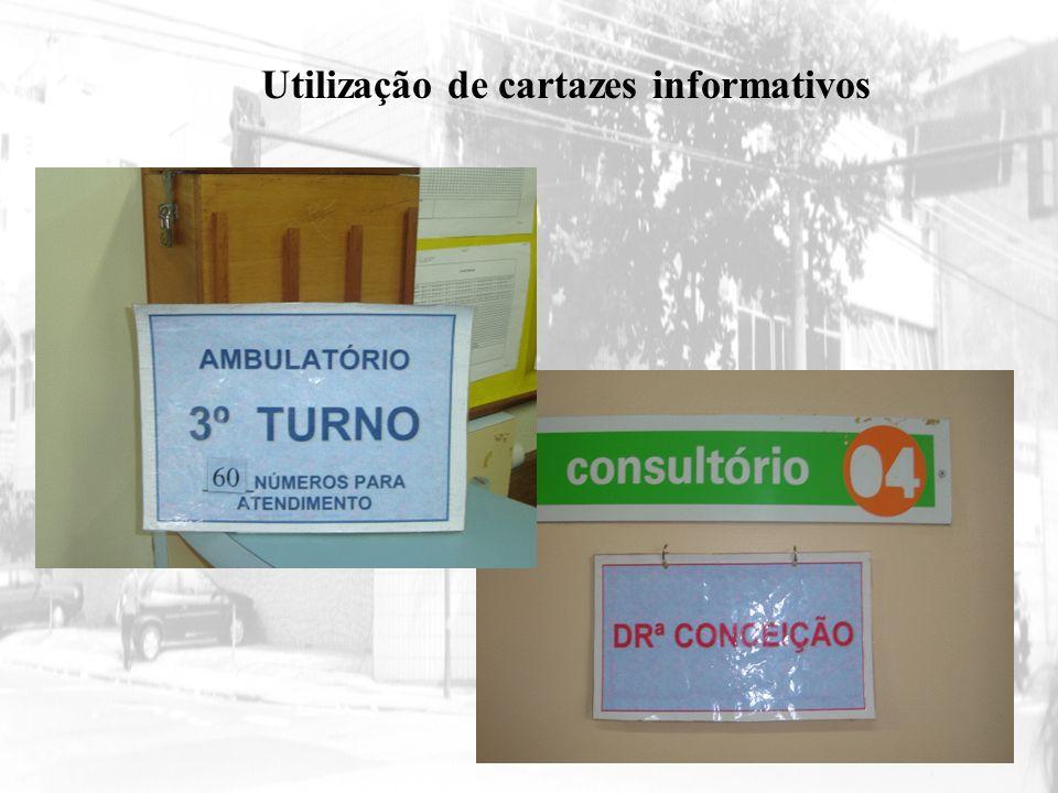 Utilização de cartazes informativos