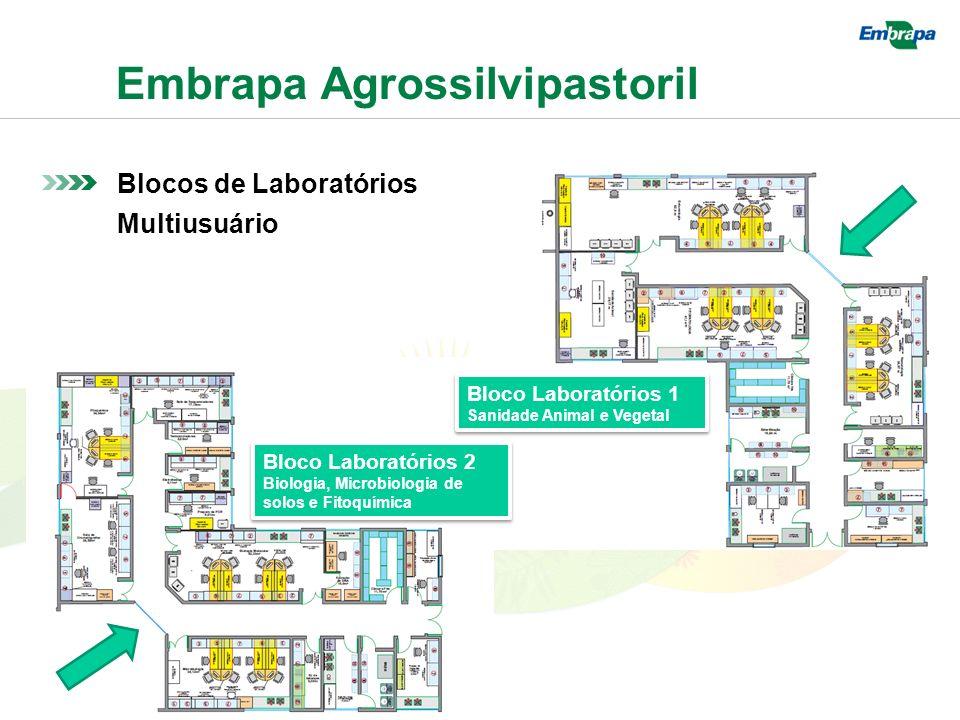 Embrapa Agrossilvipastoril Blocos de Laboratórios Multiusuário Bloco Laboratórios 1 Sanidade Animal e Vegetal Bloco Laboratórios 1 Sanidade Animal e Vegetal Bloco Laboratórios 2 Biologia, Microbiologia de solos e Fitoquímica Bloco Laboratórios 2 Biologia, Microbiologia de solos e Fitoquímica