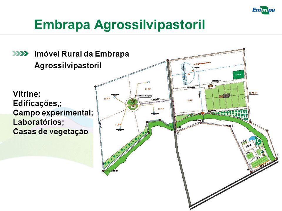Embrapa Agrossilvipastoril Imóvel Rural da Embrapa Agrossilvipastoril Vitrine; Edificações,; Campo experimental; Laboratórios; Casas de vegetação