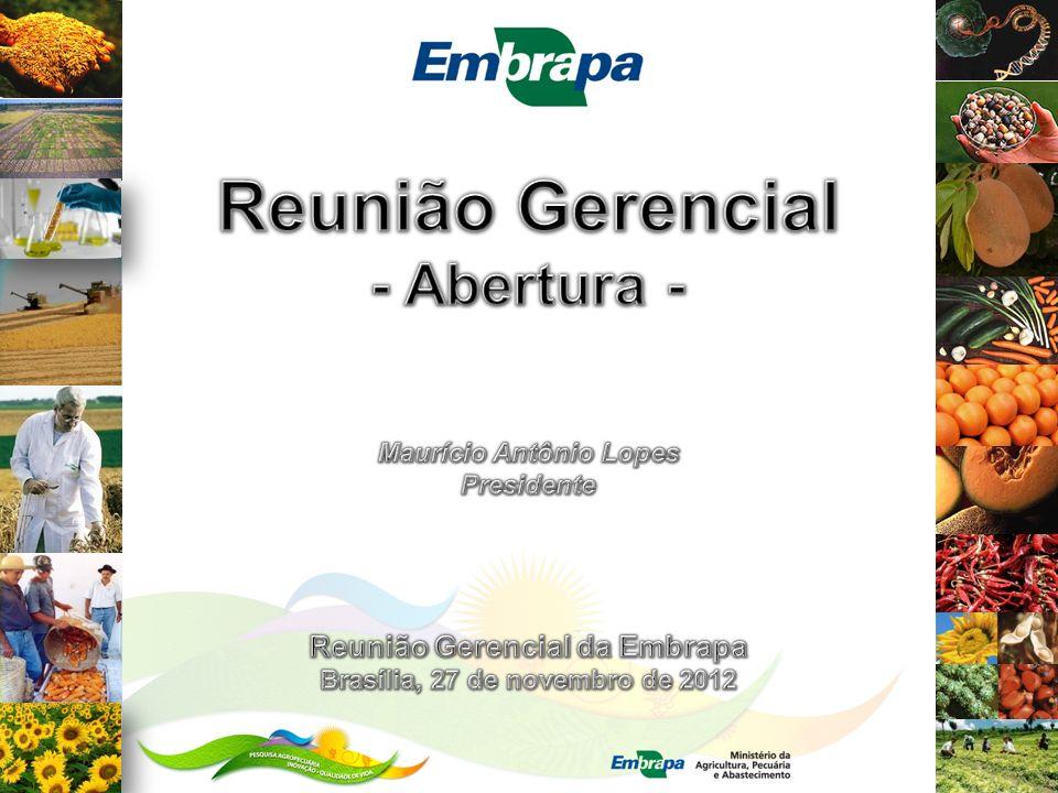 Reunião Gerencial da Embrapa Reuniões gerenciais são uma oportunidade para ampliarmos a nossa capacidade de antecipar e planejar...