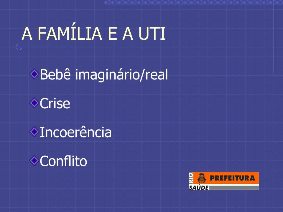 A FAMÍLIA E A UTI Bebê imaginário/real Crise Incoerência Conflito