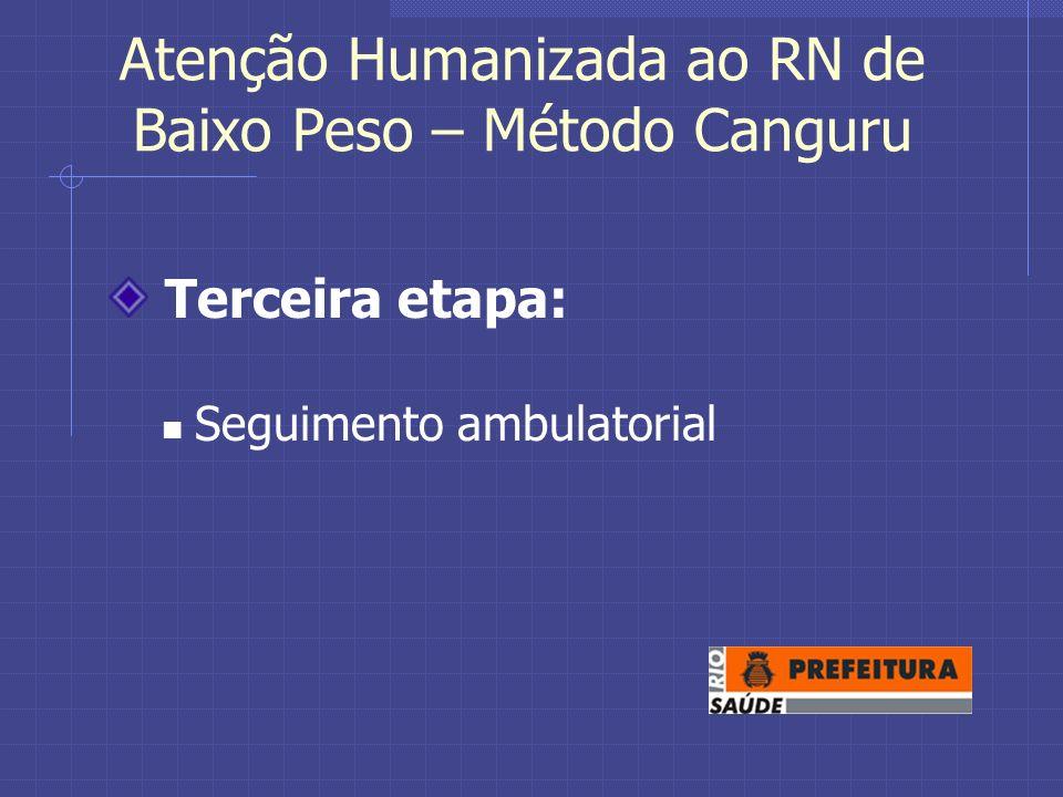 Atenção Humanizada ao RN de Baixo Peso – Método Canguru Terceira etapa: Seguimento ambulatorial