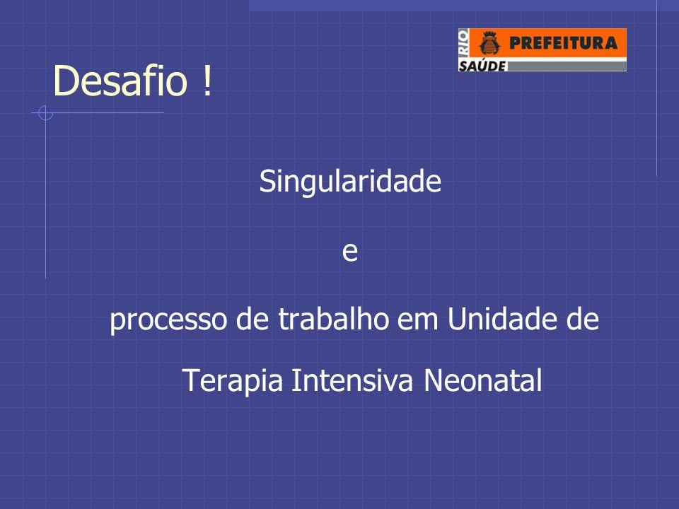Desafio ! Singularidade e processo de trabalho em Unidade de Terapia Intensiva Neonatal
