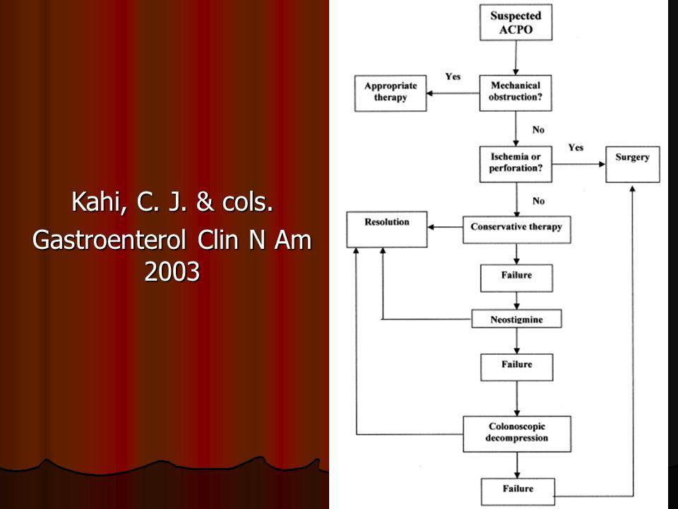 Kahi, C. J. & cols. Gastroenterol Clin N Am 2003