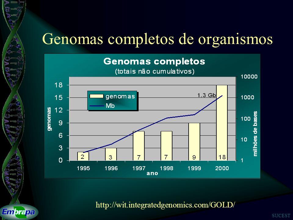 SUCEST Genomas completos de organismos http://wit.integratedgenomics.com/GOLD/