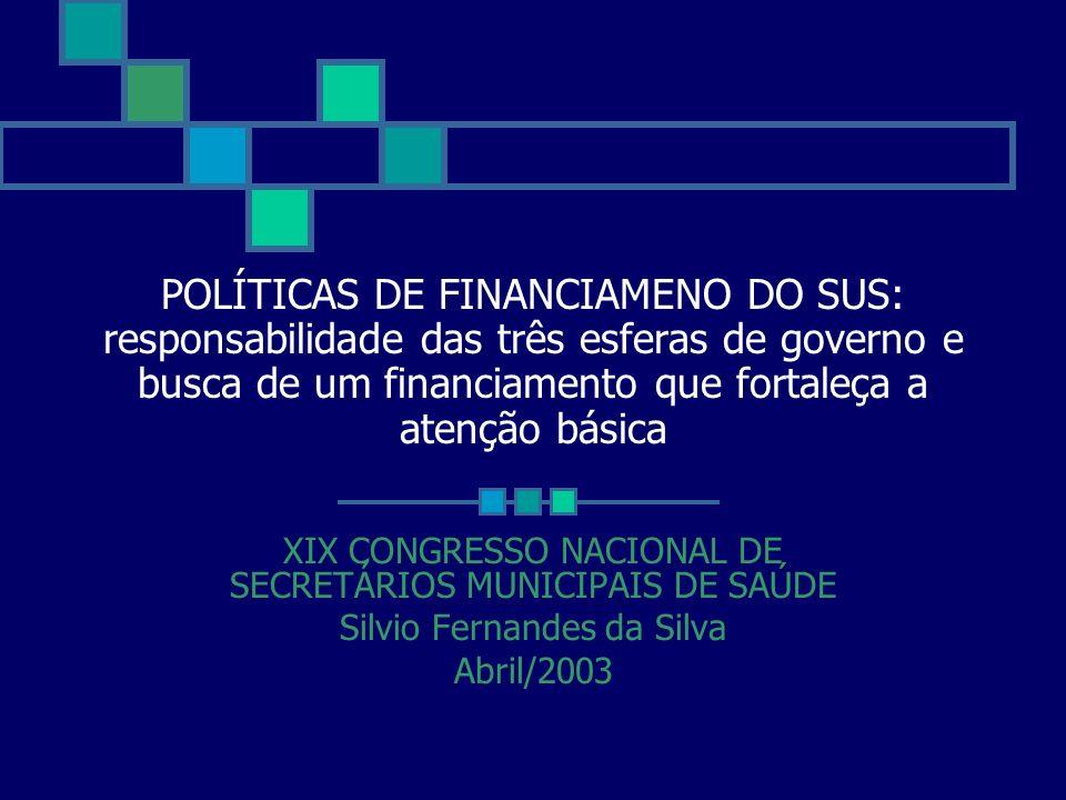 PERSPECTIVAS DE FINANCIAMENTO APÓS A EC 29 Silvio Fernandes da Silva EC-29 - UNIÃO 2000 = 1999+5% 2001 A 2004= CRESCIMENTO SEGUNDO VARIAÇÃO NOMINAL NOMINAL DO PIB - (INFLAÇÃO MAIS CRESCIMENTO REAL DO PIB) UNIÃO: