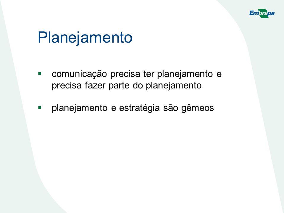 Planejamento comunicação precisa ter planejamento e precisa fazer parte do planejamento planejamento e estratégia são gêmeos