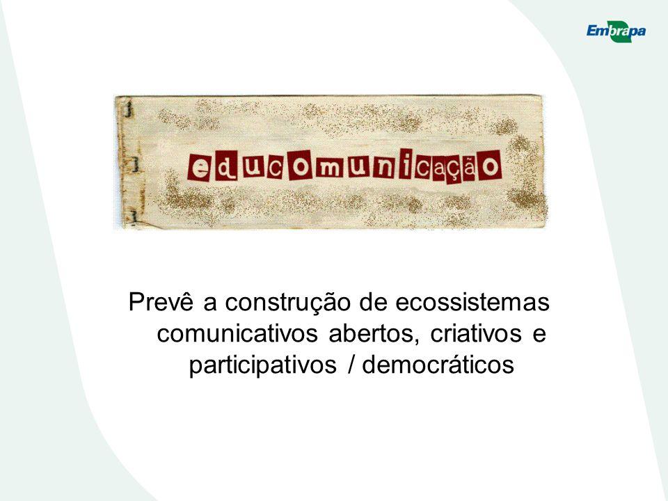 Prevê a construção de ecossistemas comunicativos abertos, criativos e participativos / democráticos