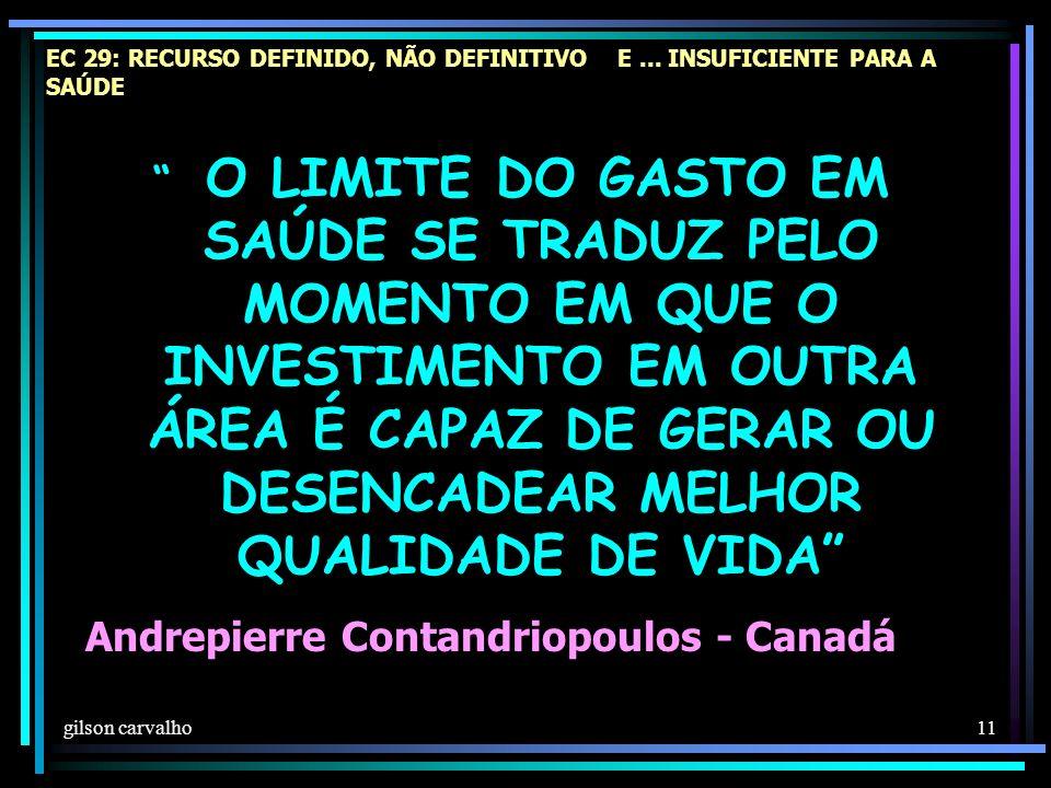 gilson carvalho 11 EC 29: RECURSO DEFINIDO, NÃO DEFINITIVO E...
