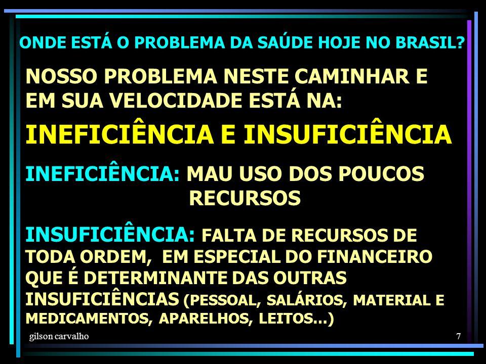 gilson carvalho 7 ONDE ESTÁ O PROBLEMA DA SAÚDE HOJE NO BRASIL.