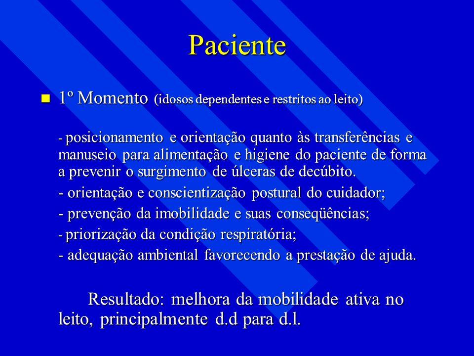 Tratamento Fisioterapêutico Reabilitação participativa Reabilitação participativa - AVDS e AIVDS; - Independência e autonomia. - Independência e auton