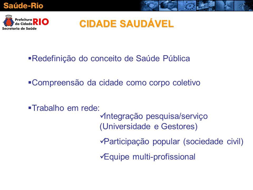Integração pesquisa/serviço (Universidade e Gestores) Participação popular (sociedade civil) Equipe multi-profissional Redefinição do conceito de Saúd
