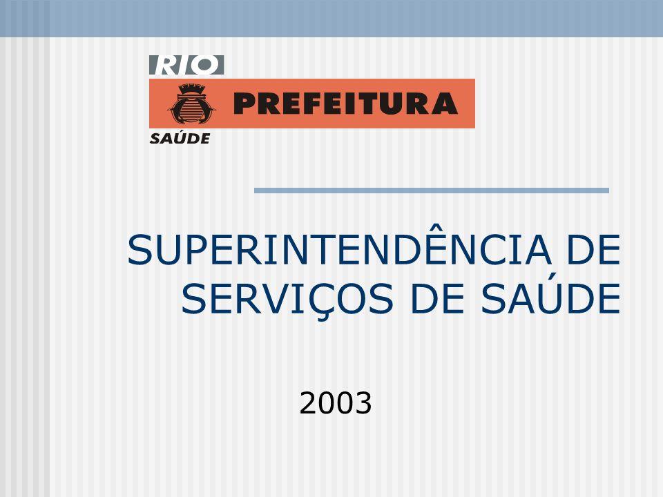 SUPERINTENDÊNCIA DE SERVIÇOS DE SAÚDE 2003