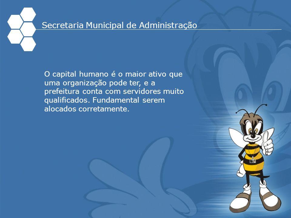 O capital humano é o maior ativo que uma organização pode ter, e a prefeitura conta com servidores muito qualificados. Fundamental serem alocados corr