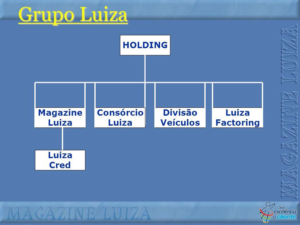 Magazine Luiza Consórcio Luiza Divisão Veículos Luiza Factoring Luiza Cred HOLDING Grupo Luiza