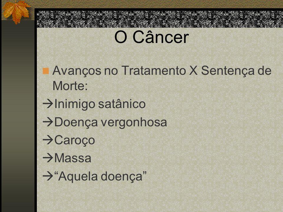 O Câncer Avanços no Tratamento X Sentença de Morte: Inimigo satânico Doença vergonhosa Caroço Massa Aquela doença