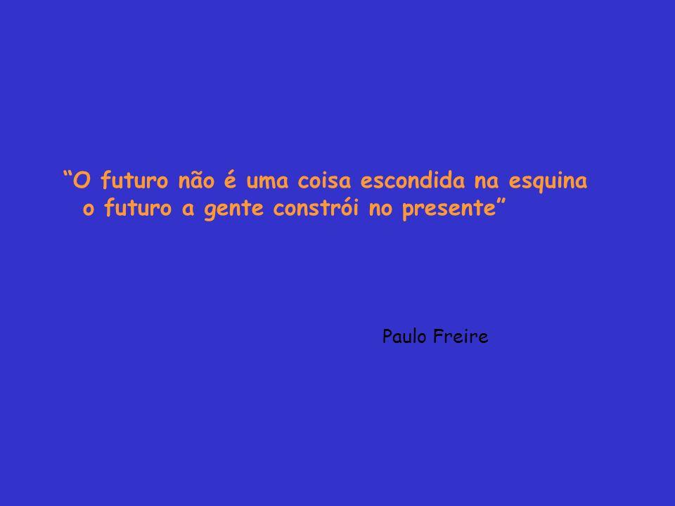 O futuro não é uma coisa escondida na esquina o futuro a gente constrói no presente Paulo Freire