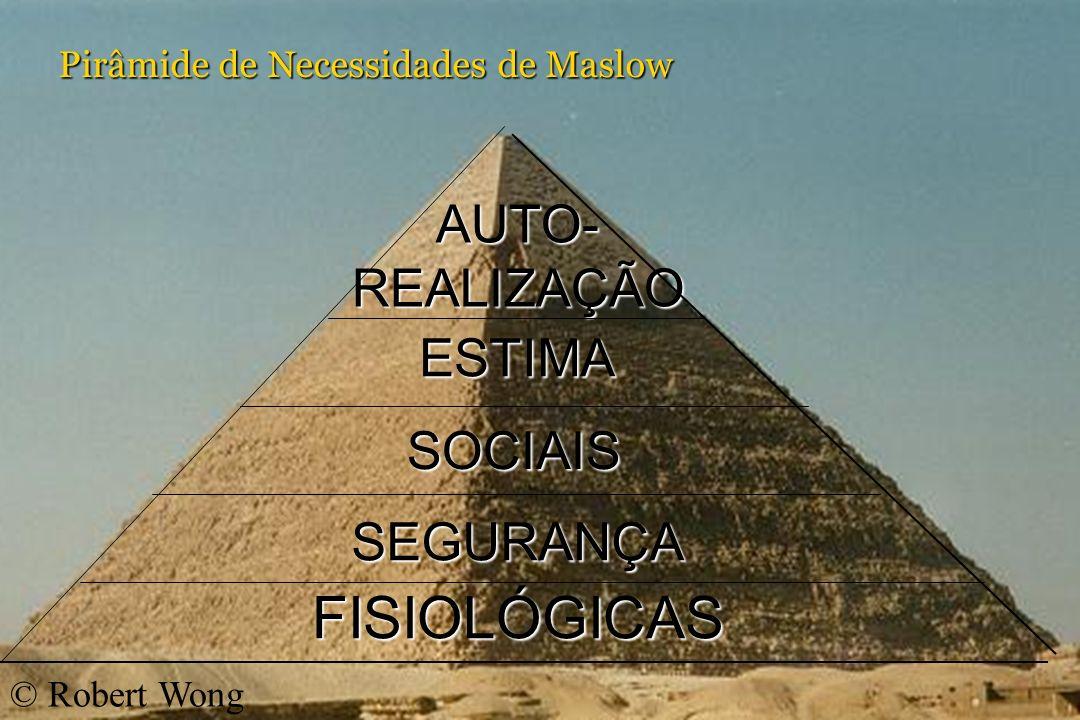 KORN/FERRY INTERNATIONAL Pirâmide de Necessidades de Maslow FISIOLÓGICAS SEGURANÇA SOCIAIS ESTIMA AUTO-REALIZAÇÃO © Robert Wong