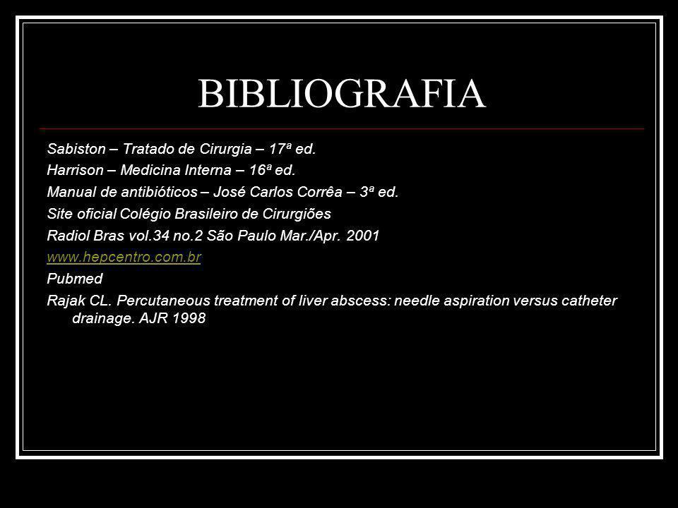 BIBLIOGRAFIA Sabiston – Tratado de Cirurgia – 17ª ed.