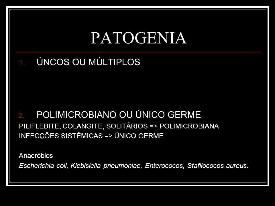 PATOGENIA 1.ÚNCOS OU MÚLTIPLOS 2.