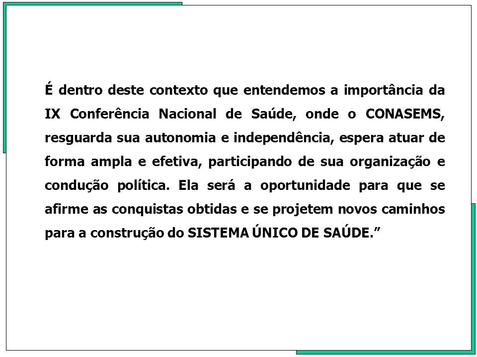 No dia 22 de agosto de1990, após quase dois anos de muita mobilização e participação ativa e constante, em todas as suas etapas de construção junto ao executivo e no congresso nacional, em sessão com esforço concentrado de dois dias, muito debate, tumultuada, tivemos como destaque a participação dos Senadores Almir Gabriel-PA, Jamil Hadadd-RJ, Jutahy Magalhães-BA e Cid Sabóia de Carvalho-CE a aprovação do projeto de lei da Câmara n° 50, a futura Lei Orgânica de Saúde 8080 de 19 de setembro deste ano promulgada pela Presidência da Republica, como a primeira lei regulamentando preceito constitucional.
