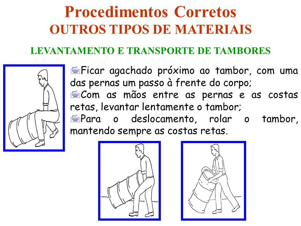 7Ficar agachado próximo ao tambor, com uma das pernas um passo à frente do corpo; 7Com as mãos entre as pernas e as costas retas, levantar lentamente