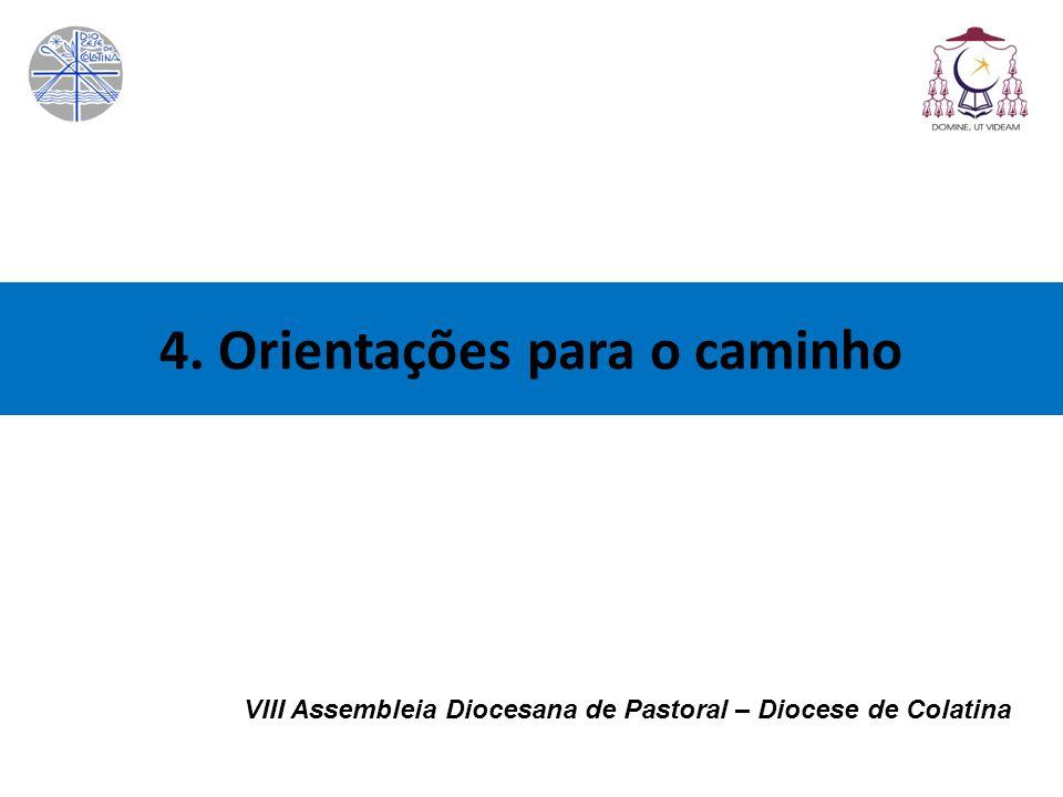 4. Orientações para o caminho VIII Assembleia Diocesana de Pastoral – Diocese de Colatina