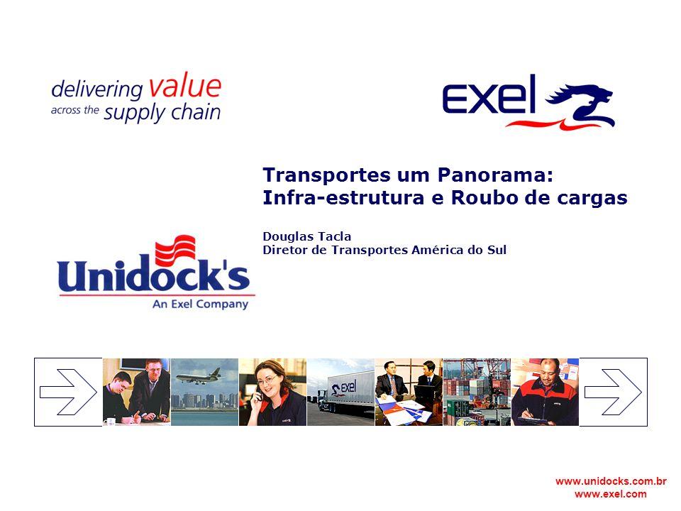 www.unidocks.com.br www.exel.com Transportes um Panorama: Infra-estrutura e Roubo de cargas Douglas Tacla Diretor de Transportes América do Sul