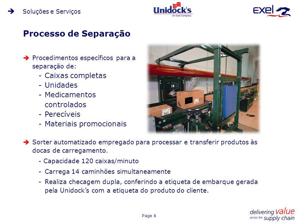 Page 8 Processo de Separação Procedimentos específicos para a separação de: -Caixas completas -Unidades -Medicamentos controlados -Perecíveis -Materia