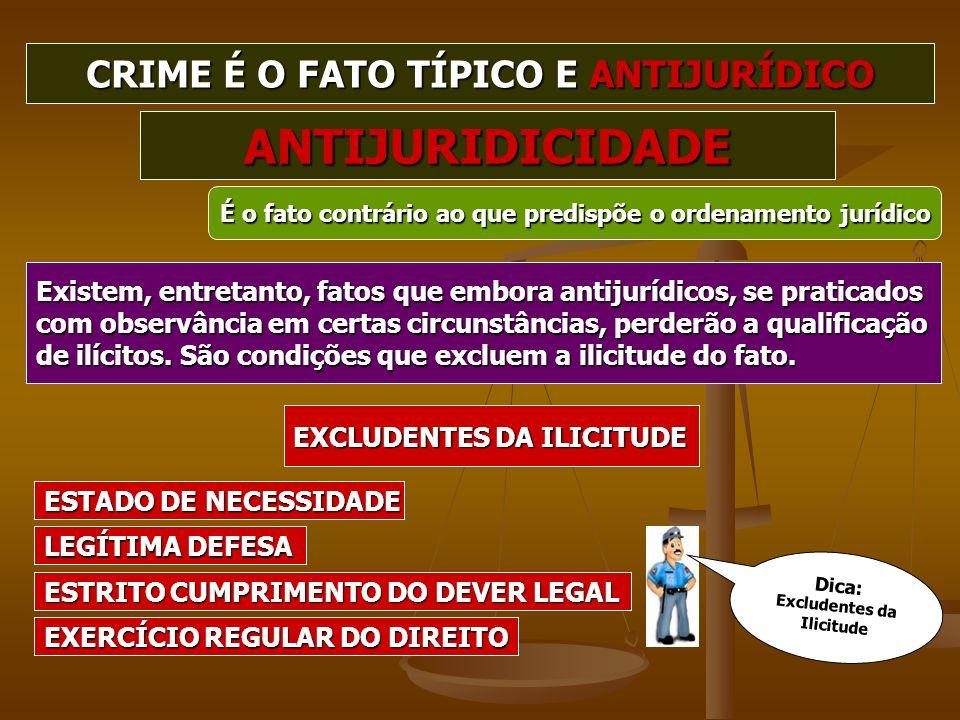 Existem, entretanto, fatos que embora antijurídicos, se praticados com observância em certas circunstâncias, perderão a qualificação de ilícitos. São
