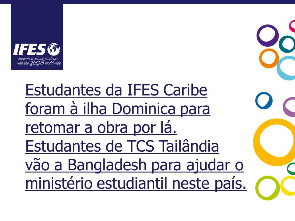 Estudantes da IFES Caribe foram à ilha Dominica para retomar a obra por lá.