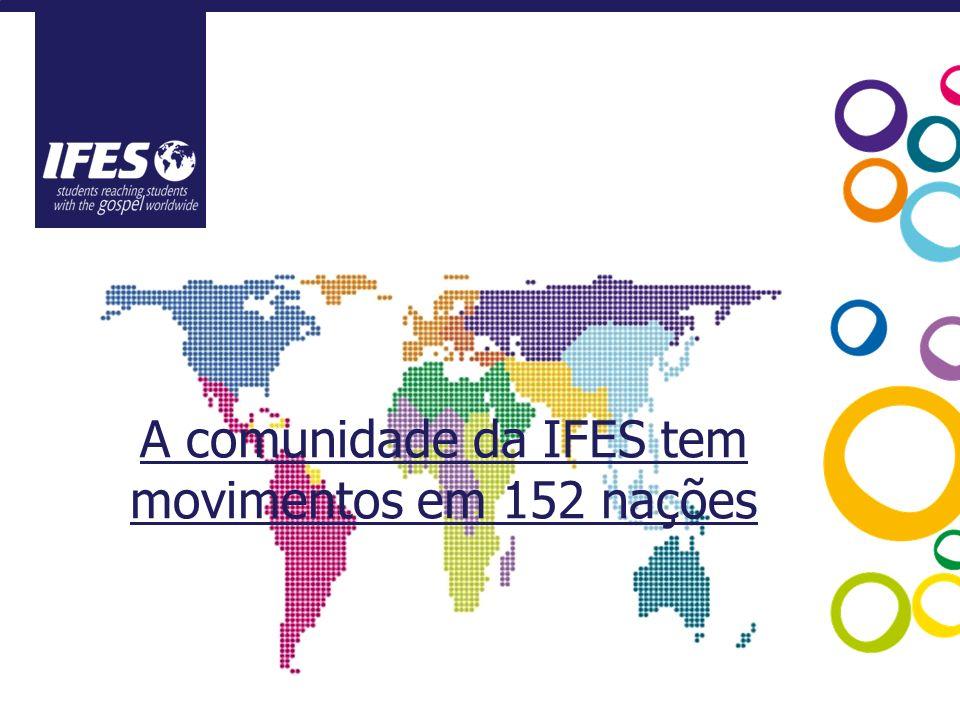 A comunidade da IFES tem movimentos em 152 nações