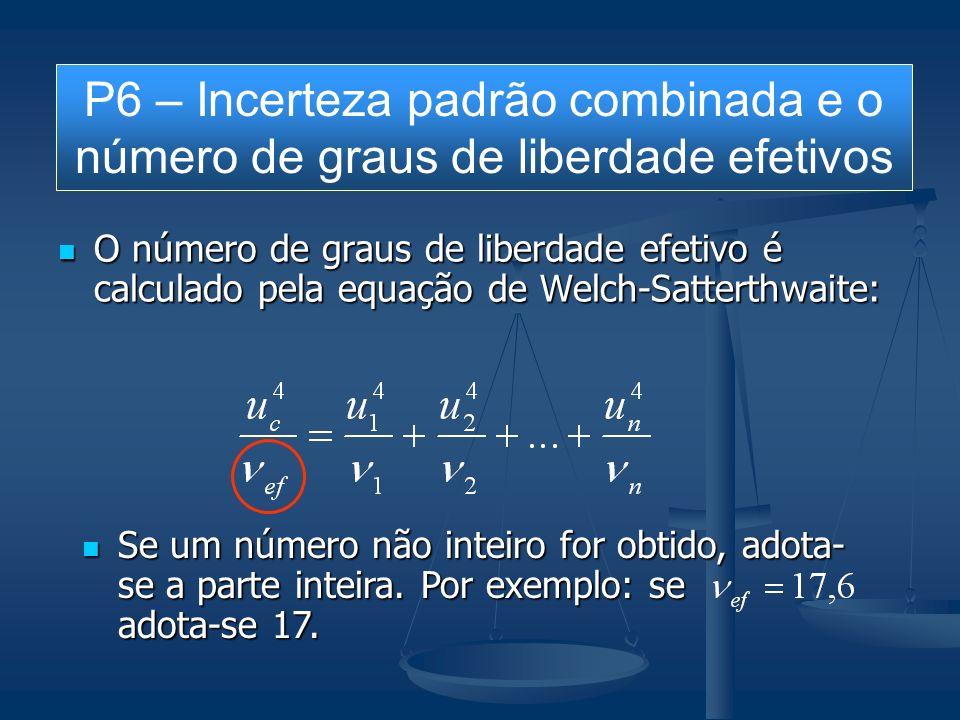 O número de graus de liberdade efetivo é calculado pela equação de Welch-Satterthwaite: O número de graus de liberdade efetivo é calculado pela equaçã