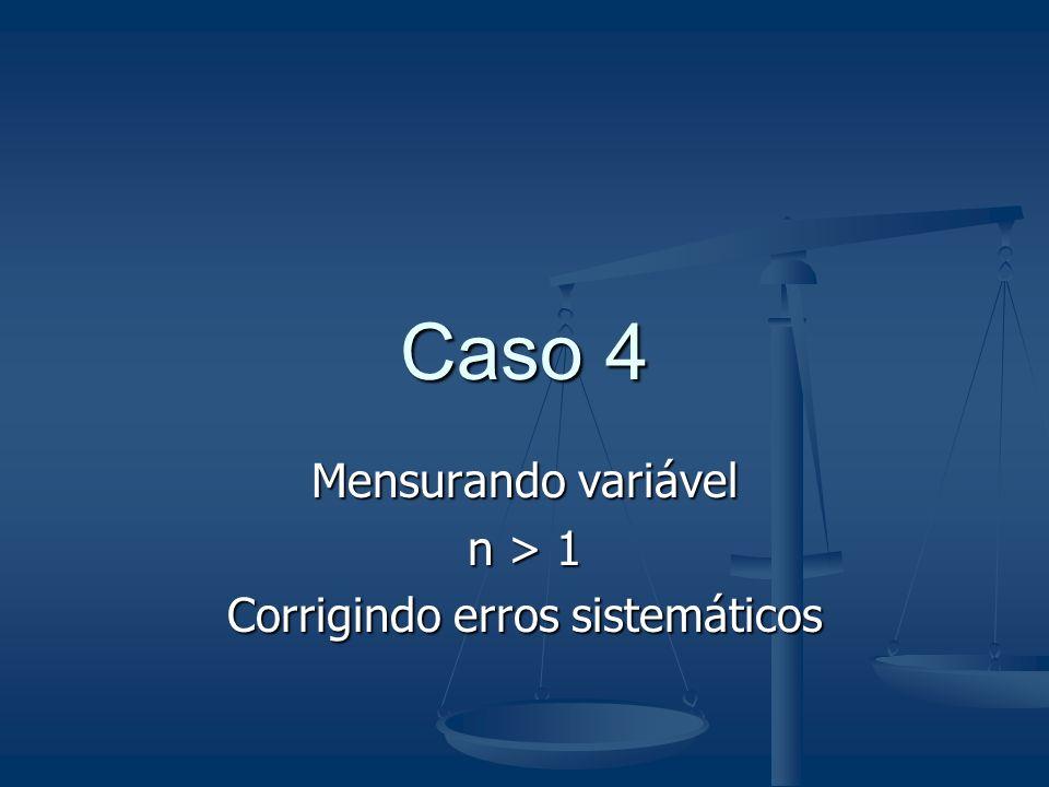 Caso 4 mensurando sistema de medição RB faixa de variação das indicações ± t. u + C
