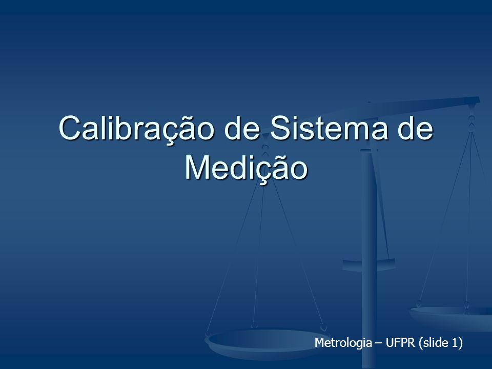 Metrologia – UFPR (slide 1) Calibração de Sistema de Medição