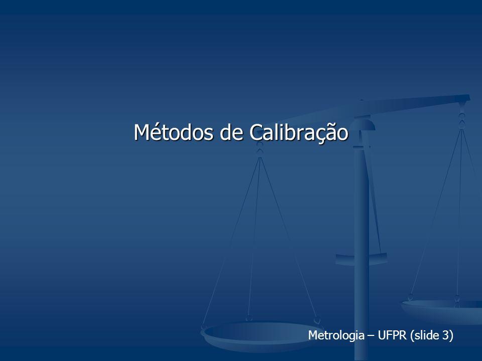 Metrologia – UFPR (slide 3) Métodos de Calibração