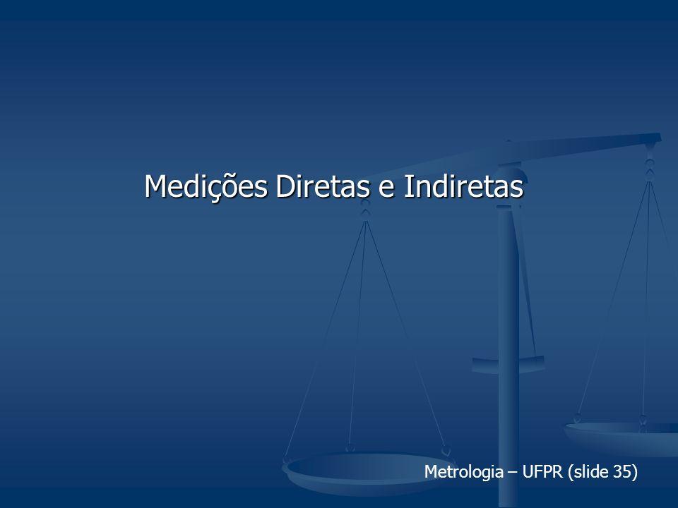 Metrologia – UFPR (slide 35) Medições Diretas e Indiretas