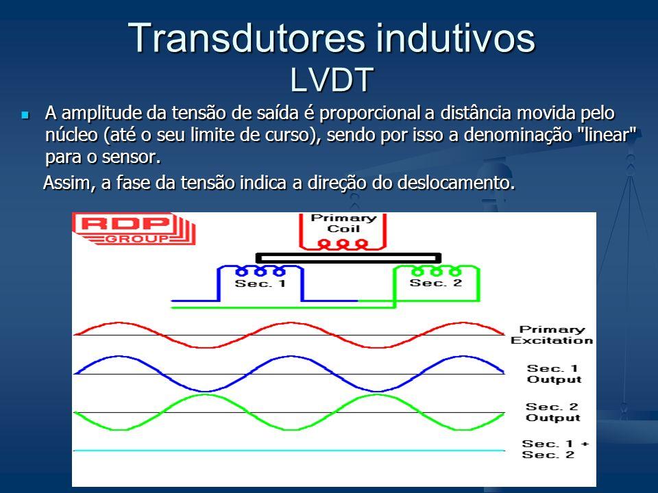 A amplitude da tensão de saída é proporcional a distância movida pelo núcleo (até o seu limite de curso), sendo por isso a denominação