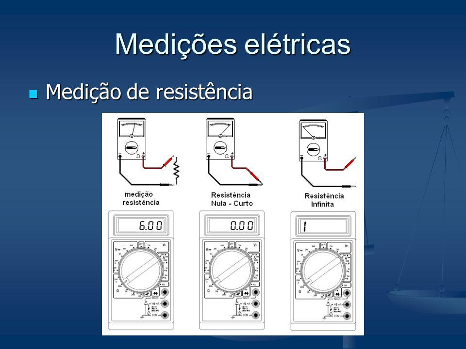 Medições elétricas Medição de resistência Medição de resistência
