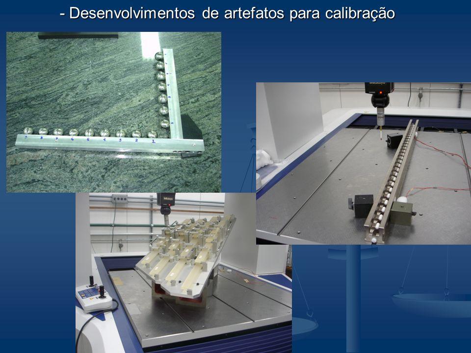 - Desenvolvimentos de artefatos para calibração - Desenvolvimentos de artefatos para calibração