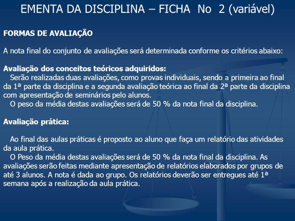 A nota final será calculada pelos critérios acima, se for maior que 70 o aluno é aprovado.