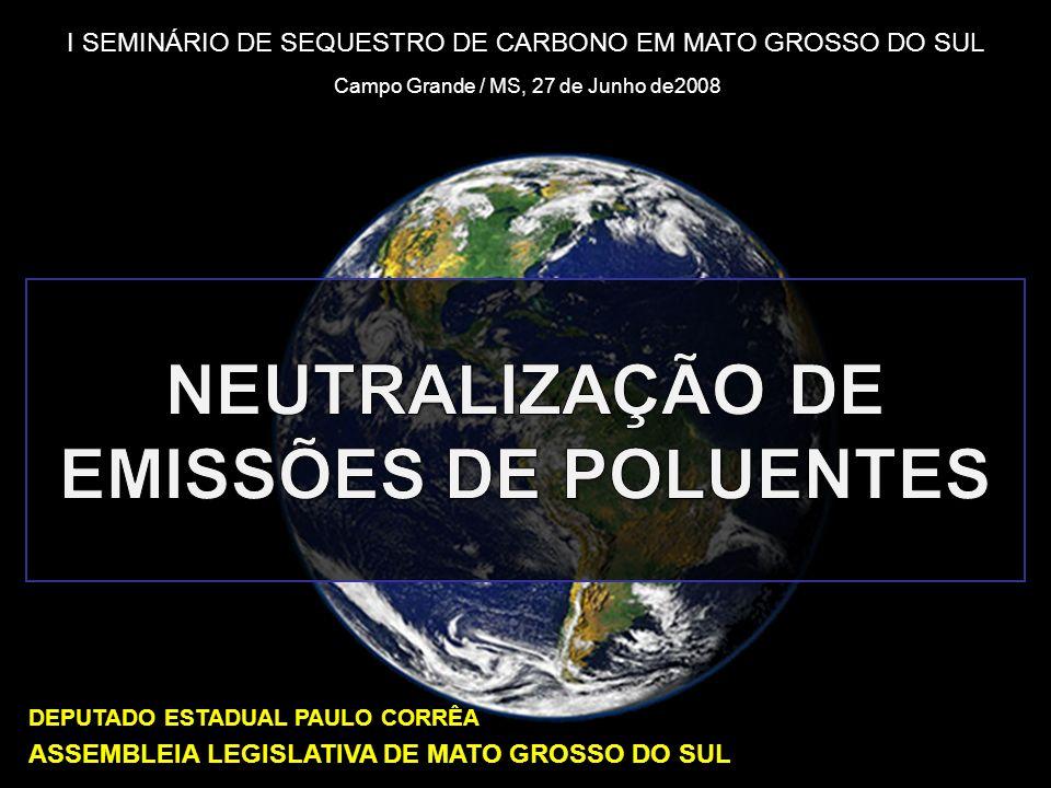 Neutralização de Emissões de Poluentes 2 Meio Ambiente Mudanças causadas pelo homem: danos ambientais cumulativos provocados pela quantidade de poluentes efeito estufa e o aquecimento global