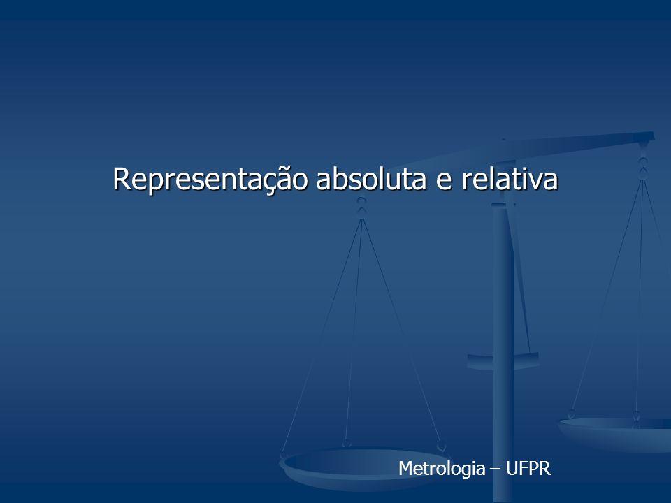 Metrologia – UFPR Representação absoluta e relativa