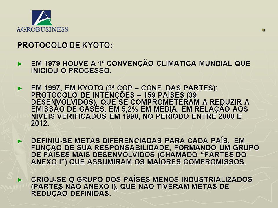 . PROTOCOLO DE KYOTO: EM 1979 HOUVE A 1ª CONVENÇÃO CLIMATICA MUNDIAL QUE INICIOU O PROCESSO. EM 1979 HOUVE A 1ª CONVENÇÃO CLIMATICA MUNDIAL QUE INICIO