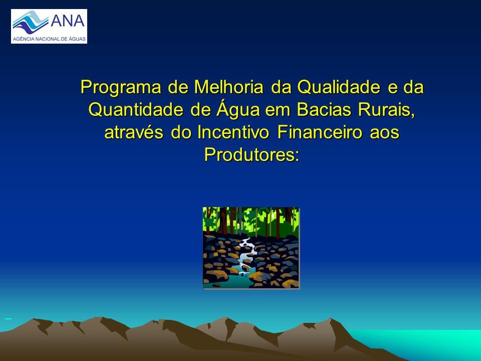 Programa de Melhoria da Qualidade e da Quantidade de Água em Bacias Rurais, através do Incentivo Financeiro aos Produtores: Programa de Melhoria da Qu