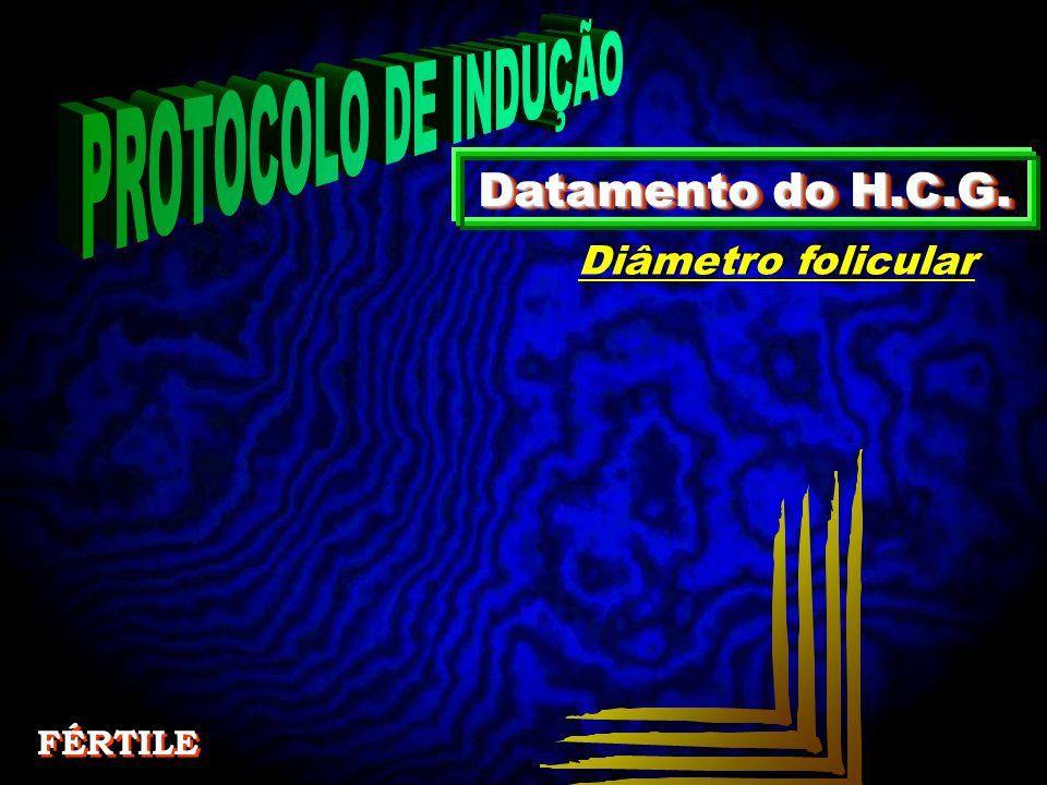 Datamento do H.C.G. Diâmetro folicular FÉRTILE