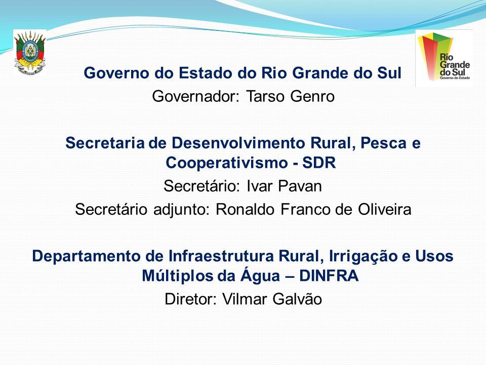 Governo do Estado do Rio Grande do Sul Governador: Tarso Genro Secretaria de Desenvolvimento Rural, Pesca e Cooperativismo - SDR Secretário: Ivar Pava